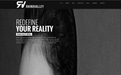 Screenshot of Home Page rhinovalley.com - RhinoValley Media - Atlanta Video Production - captured Oct. 7, 2014