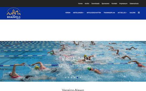 Screenshot of Home Page tv-braunfels.de - Home - TV Braunfels - captured June 10, 2018