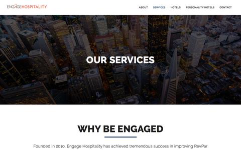 Screenshot of Services Page engagehospitality.com - Services | Engage Hospitality - captured July 19, 2018