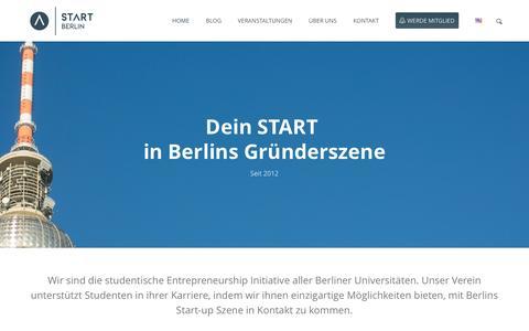 Screenshot of Home Page start-berlin.com - START Berlin – Studierendeninitiative für Gründung und UnternehmertumHome - START Berlin - Studierendeninitiative für Gründung und Unternehmertum - captured Feb. 2, 2016