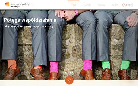 Screenshot of Home Page livemarketing.pl - Live Marketing - captured Oct. 2, 2014