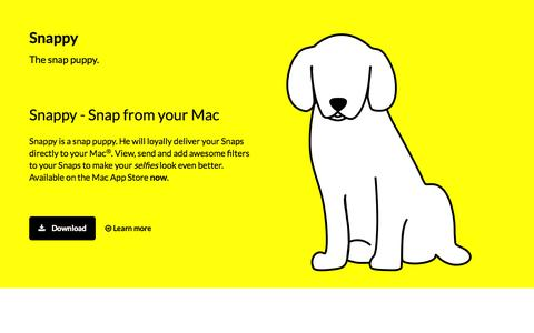 Screenshot of Home Page go-snappy.com - Snappy - Snap from your Mac - captured Oct. 3, 2014
