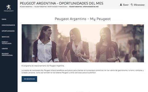 Peugeot Argentina - Oportunidades del Mes