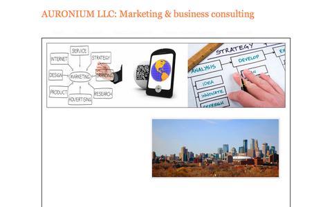 Screenshot of Pricing Page auronium.com - Pricing - AURONIUM LLC: Marketing & business consulting - captured Oct. 9, 2017