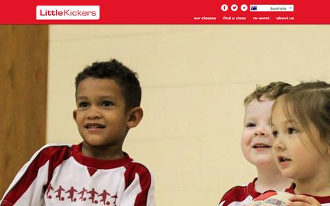 Screenshot of Signup Page littlekickers.com.au - Find Little Kickers® classes and venues near you for pre school and junior football coaching - captured Jan. 31, 2016