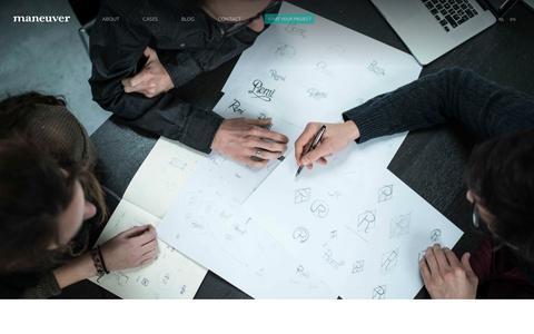 Screenshot of Team Page maneuver.be - Strategic Design Agency | maneuver - captured Nov. 28, 2016