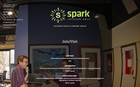 Screenshot of Signup Page sparkjh.com - Join / Visit — Spark - captured Nov. 5, 2014