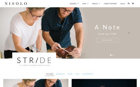 Screenshot of Blog nisolo.com - Stride | Official Blog of Nisolo - captured Nov. 6, 2017
