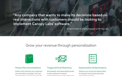 Canopy Labs for Retail and Ecommerce - Canopy Labs