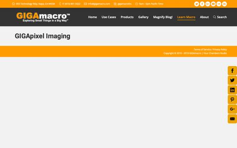 Screenshot of FAQ Page gigamacro.com - Frequently Asked Questions about Gigapixel Macro Images - captured Nov. 4, 2018