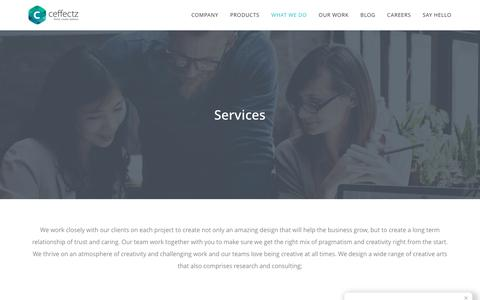 Screenshot of Services Page ceffectz.com - Our Services - Digital Solutions Agency - Ceffectz - captured May 24, 2017