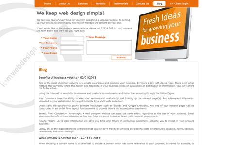 Screenshot of Blog iomwebdesign.com - IOM Web Design. An Isle of Man Web Design & Development Agency - Blog - captured Oct. 29, 2014