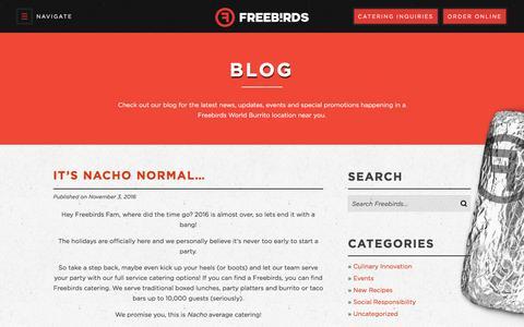 Screenshot of Blog freebirds.com - Blog - Freebirds World Burrito - captured Nov. 25, 2016