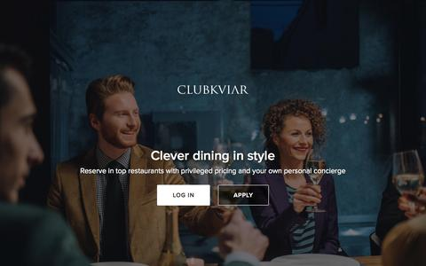 Screenshot of Home Page Terms Page clubkviar.com - ClubKviar - A discreet and seamless dining experience - captured July 3, 2015