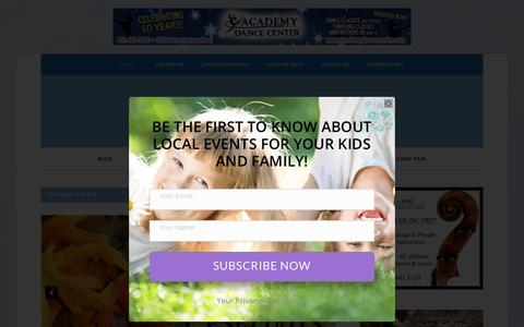 Screenshot of Home Page muscogeemoms.com - Muscogee Moms - Your Guide to Family Fun - captured Sept. 22, 2018