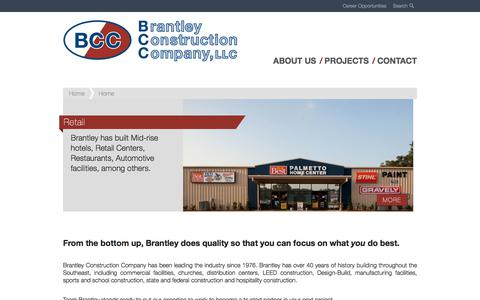 Screenshot of Home Page brantleyconstruction.com - Home - Brantley Construction - captured Oct. 10, 2019