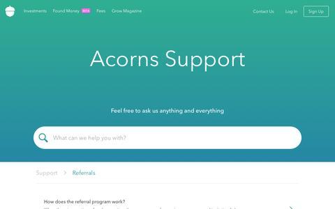 Acorns - Support