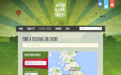 Screenshot of Maps & Directions Page foodfestivalfinder.co.uk - Find a festival | Food Festival Finder - captured Nov. 11, 2015