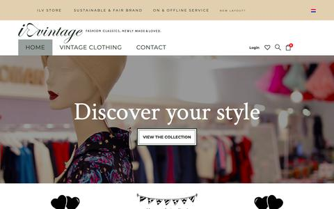Screenshot of Home Page ilovevintage.com - I Love Vintage | Fashion classics, newly made & loved. - captured Oct. 6, 2018