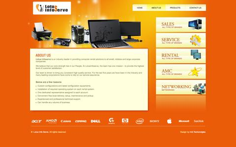 Screenshot of About Page lotusinfoserve.com - Lotus Info Serve - About Us - captured Sept. 30, 2014