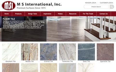 Screenshot of msistone.com - Flooring Tiles - Porcelain, Ceramic, and Natural Stone Tiles - captured March 19, 2016
