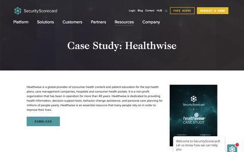 Screenshot of Case Studies Page securityscorecard.com - (1) New Message! - captured April 8, 2019