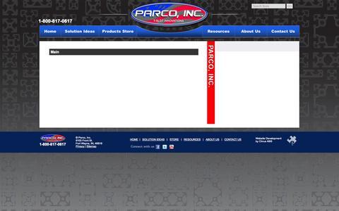 Screenshot of Site Map Page parco-inc.com - Parco, Inc. - captured Sept. 30, 2014