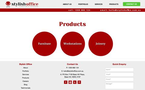 Screenshot of Products Page stylishoffice.com.au - Office Furniture Sydney – Buy Commercial Office Furniture Products - captured July 1, 2016