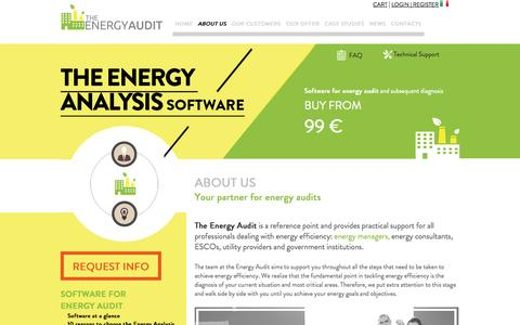 Screenshot of About Page the-energyaudit.com - Your Partner for Energy Diagnosis - captured Oct. 7, 2014