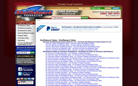 Screenshot of Site Map Page shuffleboardfederation.com captured Oct. 6, 2014