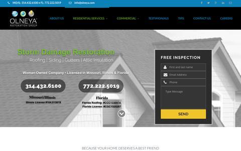Screenshot of Home Page olneya.com - Olneya | Because Your Home Deserves A Best Friend - captured Dec. 1, 2016