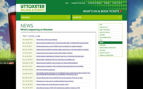Screenshot of Press Page uttoxeter-racecourse.co.uk - News | Uttoxeter Racecourse Racing & Events - captured Oct. 7, 2014