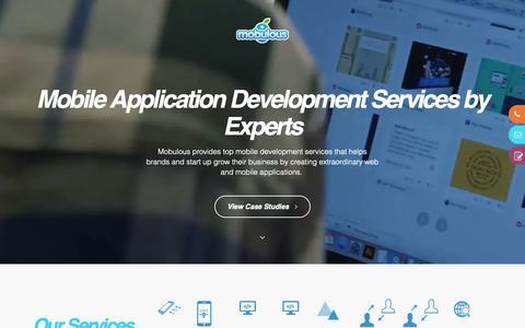 Screenshot of Services Page mobulous.com - Mobile Application Development Services by Experts - Mobulous - captured Dec. 20, 2018