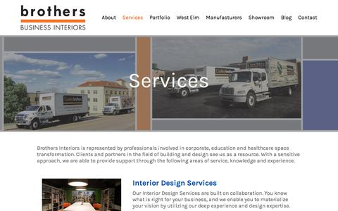 Screenshot of Services Page brothersinteriors.com - Services - Brothers Interiors - captured Oct. 11, 2017
