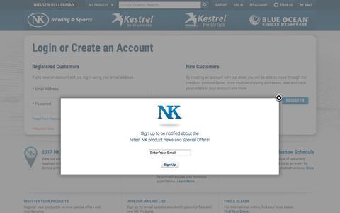 Screenshot of Login Page nkhome.com - Customer Login - captured July 7, 2017