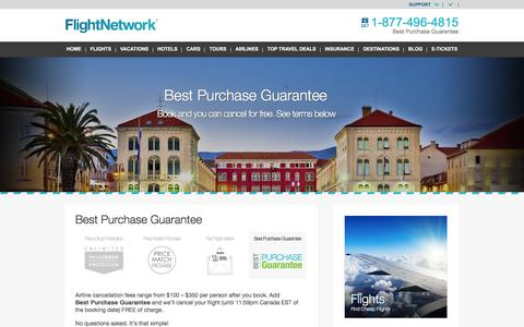Screenshot of Hours Page flightnetwork.com - Best Purchase Guarantee - FlightNetwork.com - captured July 9, 2016