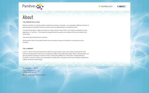 Screenshot of About Page paneve.com - About | Panève - captured July 19, 2014