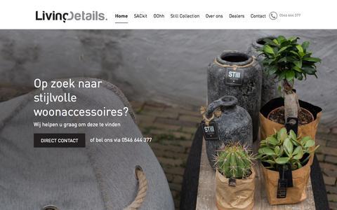 Screenshot of Home Page groothandeljowi.nl - Living Details Nederland - captured Sept. 16, 2015