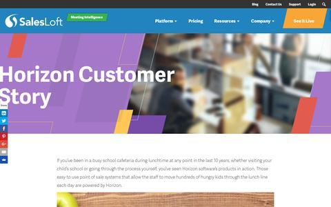 Screenshot of Case Studies Page salesloft.com - Horizon Customer Story - SalesLoft - captured Sept. 19, 2018