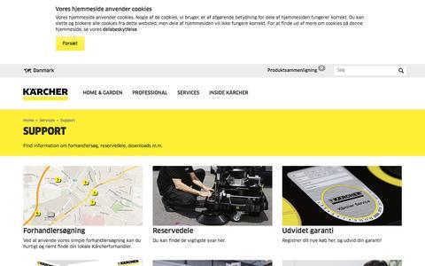Screenshot of Support Page kaercher.com - Support   Kärcher Danmark - captured April 5, 2017