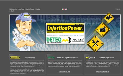 Screenshot of Home Page injectionpower.com - InjectionPower Alliance - captured Oct. 6, 2014