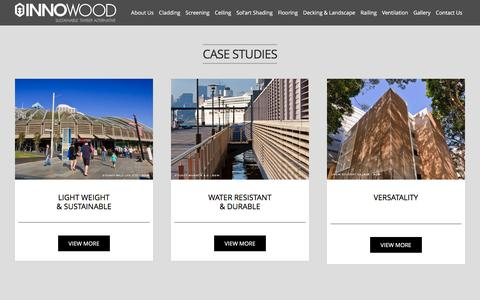 Screenshot of Case Studies Page innowood.com - Case Studies - captured May 5, 2017