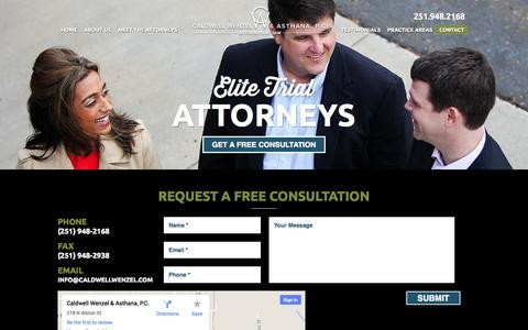 Screenshot of Contact Page cwalawfirm.com - Contact Us | Caldwell Wenzel & Asthana, PC - captured Oct. 1, 2014
