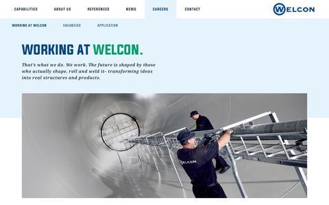 Screenshot of Jobs Page welcon.dk - Working at Welcon – Welcon.dk - captured Oct. 20, 2018
