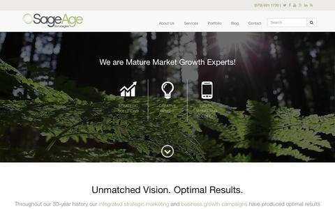 Screenshot of Home Page sageagestrategies.com - Senior Living Marketing and Business Growth Experts | Sage Age Strategies - captured June 23, 2017