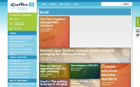 Screenshot of Blog curtec.com - Blog - CurTec - captured Oct. 3, 2014