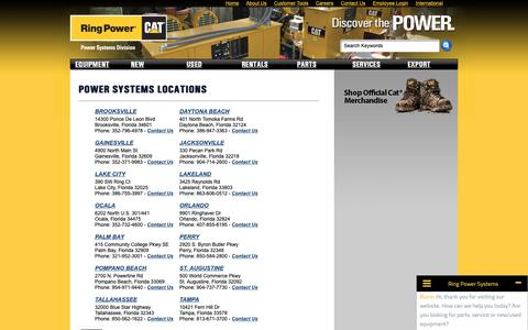 Screenshot of Contact Page Locations Page ringpower-systems.com - Locations| Ring Power Systems - captured Oct. 18, 2018