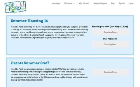 Screenshot of Products Page hopthepond.com - Hop The Pond - captured Dec. 11, 2015