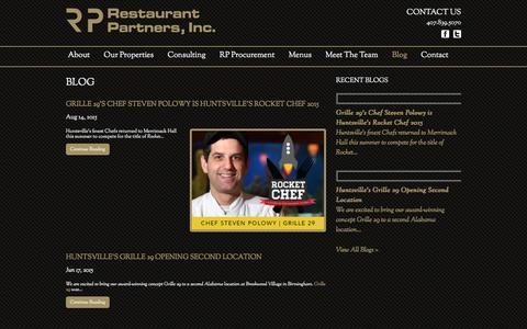 Screenshot of Blog restaurantpartnersinc.com - Blog - Restaurant Partners INC - captured Jan. 11, 2016