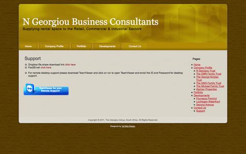 Screenshot of Support Page georgiougroup.co.za - Support - N Georgiou Business ConsultantsN Georgiou Business Consultants - captured Oct. 6, 2014